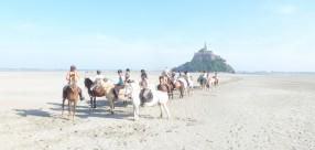 Balade à cheval au Mont St Michel